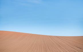 field, landscape, sky