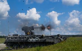 Combate, máquina, Tanque, tiroteio