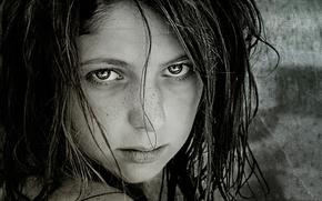 девочка, взгляд, портрет.веснушки