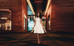 a piedi nudi, vestire, Mosca, Julia Pushman, ragazza, scarpe, città