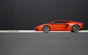 red, orange, Lamborghini