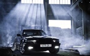 тюнинг, бумер, дым, семёрка, свет, BMW