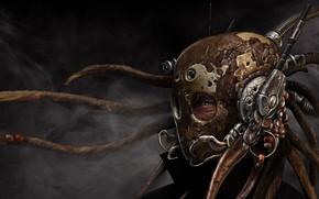 casco, visualizzare, maschera, Steampunk