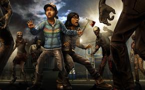 Clementine, Sarah, situazione, zombie, Survivors