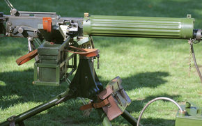 "gun, heavy, grass, weapon, Easel, ""Vickers"""