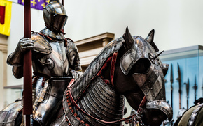 warrior, metal, armor, knight