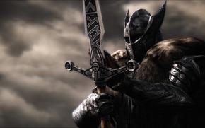 armor, sword, Rendering, helmet, warrior, background, metal, knight