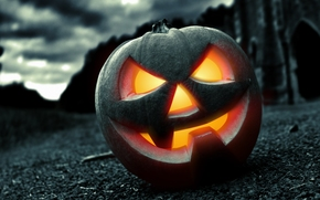 Хэллоуин, страх, ночь, тыква