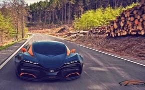 accelerare, LADA, stradale, foresta, È uguale a, alberi, Supercars