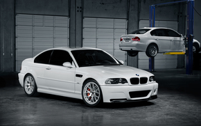 bianco, BMW, officina, ascensore, BMW