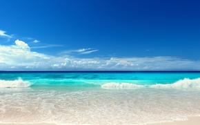 ビーチ, 海, 海, 太陽, 夏
