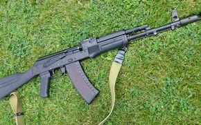 grama, pistola, semi-automático, carabina, Saiga