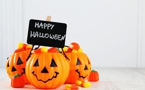 Halloween, citrouille, bonbons