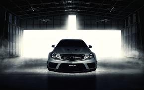 silver, hangar, Mercedes, MERCEDES BENZ