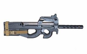 arma, fundo, Belga, metralhadora de mão