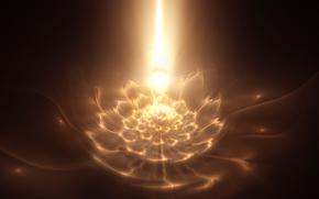patrón fractal, brillo, fractales