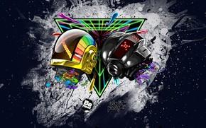 capacete, estilo, Daft Punk