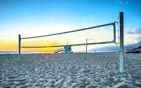 net, pallavolo, spiaggia