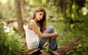 girl, nature, jeans