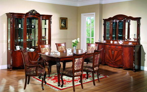 chairs, window, Cabinets, picture, interior, vase, table, crockery, Flowers