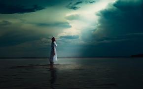 agua, soledad, chica, el cielo