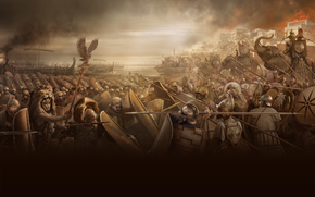 Rome, Total war, battle