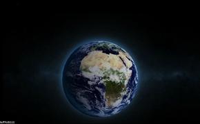 mondiale, terra, Terra, spazio, buio, chiaro, Blue Planet