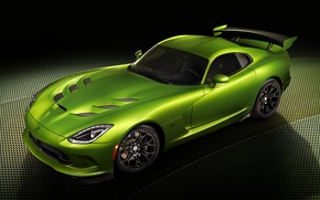 Supercar, dodge, Green, tuning, Car
