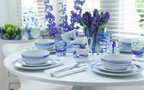 интерьер, посуда, стиль, дизайн, стол