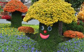 Mushroom feliz, arriate, Flores