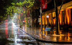 Sydney, Sydney, Australia, calle, lluvia