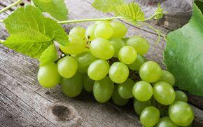 листик, еда, ягода, виноград, широкоформатные, фон, зеленый, обои, полноэкранные, листочек, широкоэкранные