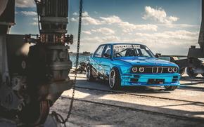 vorher, BMW, RAILS, blau chrom, BMW