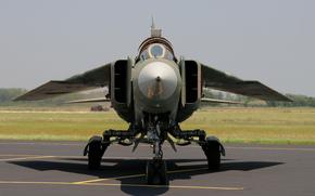 campo di aviazione, bombardiere, Sovietica, combattente, polivalente