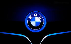 icône, hotte, BMW, étiquette, BMW