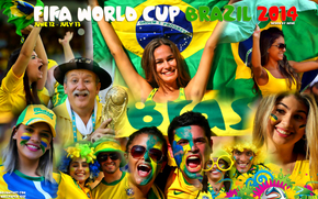 collage, World Cup, football, fans