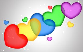 валентин, абстракция, цвет, влюбленные, сердце, сердечко, святой