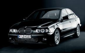 voiture, noir, BMW, Sedan