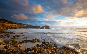 Australie, mer, Rocks, côte, paysage