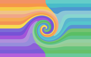 rainbow, symmetry, pattern, wave, COLOR, spiral