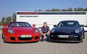fundo, Walter R?hrl, Porsche, Carrera GT, piloto de corrida, Supercars