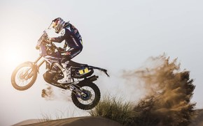 sand, racer, dune, Moto, speed, Day, Sport, motorcycles, Side view, motorcycle, sun