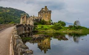 castle Eilean Donan, британские острова, шотландия