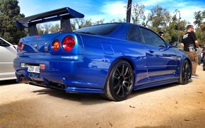 Nissan, blau, Nissan, Abstimmen