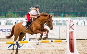 конь, девушка, спорт