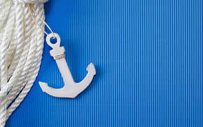 blue, band, Anchor, background, rope