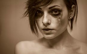 макияж, портрет
