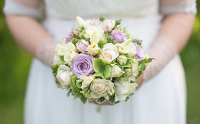 Roses, bouquet, mariage