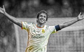 Photoshop, Raul, joy, legend, Sport, football, pencil, Real Madrid, Player, smile