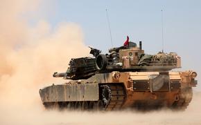 principal, batalha, poeira, tanque, Abrams